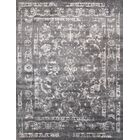 Transitional Rayon from Bamboo Silk Hand-Knotted Gray Area Rug Rug Size: 12'1