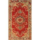 Anatolian Lamb's Wool Hand-Knotted Red/Yellow Area Rug