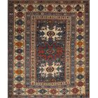 Kazak Antique Hand Knotted Wool Navy/Ivory Area Rug