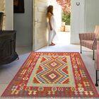 Anatolian Kilim Hand-Woven Wool Red Area Rug