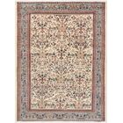 Kashan Hand-Knotted Wool Ivory/Brown Area Rug