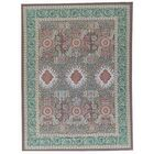 Aubusson Hand-Woven Wool Brown/Green Area Rug Rug Size: Rectangle 8' x 9'11