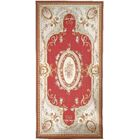 Aubusson Hand-Woven Wool Brown/Red/Cream Area Rug Rug Size: Rectangle 11' x 16'