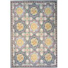 Aubusson Hand-Woven Wool Green/Blue/Beige Area Rug Rug Size: Runner 2'1 x 12'5