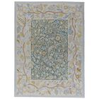Aubusson Hand-Woven Wool Blue/Green Area Rug Rug Size: Rectangle 9'2