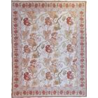 One-of-a-Kind Aubusson Hand Woven Wool Rust Area Rug