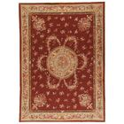 Aubusson Hand Woven Wool Red Area Rug