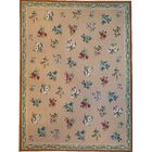 One-of-a-Kind Aubusson Hand Woven Wool Beige Area Rug Rug Size: Rectangle 9'11