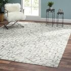 Cowhide and Hand-Loomed Silver Area Rug Rug Size: Rectangle 2' x 3'