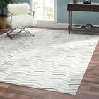 Cowhide and Hand-Loomed Silver Area Rug Rug Size: Rectangle 8' x 10'