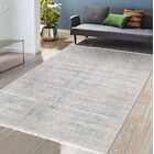Transitional Hand-Knotted Wool/Silk Gray Area Rug Rug Size: Rectangle 9'0