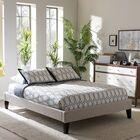 Biagio Upholstered Platform Bed Color: Beige, Size: Queen