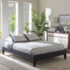 Biagio Upholstered Platform Bed Color: Dark Grey, Size: Full