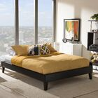 Biagio Upholstered Platform Bed Color: Black, Size: Queen