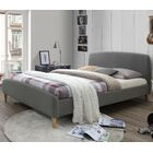 Georgio Upholstered Platform Bed Color: Light Gray, Size: Queen