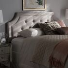 Rico Upholstered Panel Headboard Color: Greyish Beige, Size: Twin