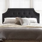 Rico Upholstered Panel Headboard Color: Gray, Size: King
