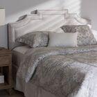 Carner Upholstered Panel Headboard Upholstery: Grayish Beige, Size: King