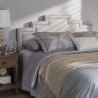Carruth Upholstered Panel Headboard Size: Full, Upholstery: Grayish Beige
