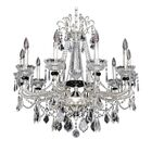 Campra 10-Light Candle Style Chandelier Crystal: Swarovski Elements Clear