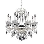 Campra 8-Light Candle Style Chandelier Crystal: Swarovski Elements Clear
