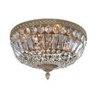 Lemire 4-Light Semi-Flush Mount Finish: Antique Gold