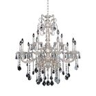 Marcello 15-Light Candle Style Chandelier Crystal: Firenze Clear