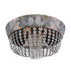 Romanov 9-Light Semi-Flush Mount Crystal: Firenze Fleet Gold