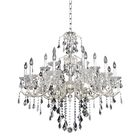 Praetorius 18-Light Candle Style Chandelier Crystal: Firenze Clear, Finish: 2-Tone Silver