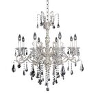 Haydn 8-Light Candle Style Chandelier Crystal: Firenze Clear
