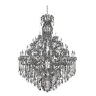 Brahms 66-Light Candle Style Chandelier Crystal: Firenze Smoked Fleet Argentine