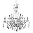 Torrelli 15-Light Candle Style Chandelier Crystal: Swarovski Elements Clear