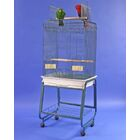 Mays Play Top Bird Cage with Plastic Base Color: Black