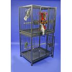 Mcgill Large Double Bird Cage Color: Platinum