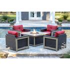 Newstead 5 Piece Conversation Set with Cushions Fabric: Autumn Berry
