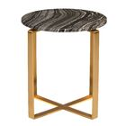 Fakenham End Table Table Base Color: Brushed Gold