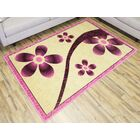 Rosa Pink/Cream Area Rug Rug Size: 2'3