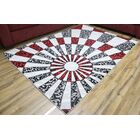 Passion Silver/Black Area Rug Rug Size: 6'7