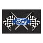 Ford - Ford Flags Tailgater Mat Rug Size: 4' x 6'