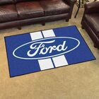 Ford - Ford Oval with Stripes Tailgater Mat Rug Size: 4' x 6'