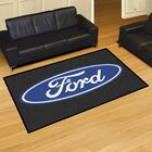 Ford - Ford Oval Tailgater Mat Rug Size: 5' x 8'