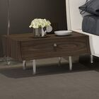 Concavo Nightstand Color: Walnut