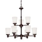 Cimmaron 9-Light Shaded Chandelier Finish: Rubbed Bronze