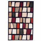 Color Blocks Black Area Rug Rug Size: Rectangle 5' x 7'6
