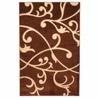Berber Leaves Brown Area Rug Rug Size: Rectangle 5' x 7'6