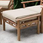 Nelsonville Downton Outdoor Teak Ottoman with Cushion