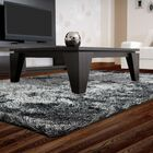 Neptune Calling Hand-Tufted Black/White Area Rug Rug Size: Square 5'