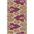 Alameda Hand woven Pink/Tan Area Rug Rug Size: Rectangle 8' x 11'