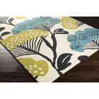 Sanderson Beige & Teal Floral Area Rug Rug Size: Rectangle 8' x 11'
