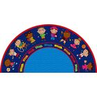 Friends Blue Semicircle Area Rug